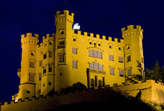Hohenschwangau castle at night. A famous Hohenschwangau castle at night. Bavaria, Germany Royalty Free Stock Image