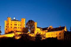 Hohenschwangau castle by night, Bavaria. Germany Stock Image
