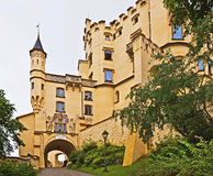 Hohenschwangau Castle, palace in southern Germany. In rainy day Stock Image