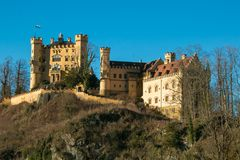 Hohenschwangau Castle or Schloss Hohenschwangau is a 19th-century palace in southern Germany Stock Images