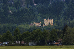 Hohenschwangau Castle. Or Schloss Hohenschwangau lit: Upper Swan County Palace is a 19th-century palace in southern Germany. It was the childhood residence of Stock Photography