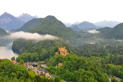 Hohenschwangau Castle in Schwangau town Stock Photos