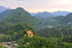 Hohenschwangau Castle in Schwangau town Royalty Free Stock Images