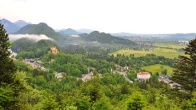 Hohenschwangau Castle in Schwangau town Royalty Free Stock Photos
