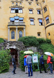 Hohenschwangau Castle visited by tourists Royalty Free Stock Image