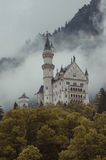 Hohenschwangau,  Germany- May 24, 2015: View of Neuschwanstein Castle in Bavaria, near Munich, on a stormy day. Royalty Free Stock Image