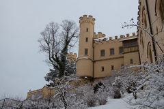 Hohenschwangau kasztel w zima czasie Niemcy Zdjęcie Stock