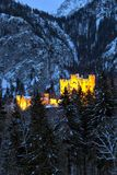 Hohenschwangau nelle alpi bavaresi, Germania Immagini Stock Libere da Diritti