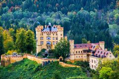 Hohenschwangau Schloss stockbilder