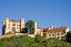 Hohenschwangau slott i Bayern Royaltyfri Fotografi
