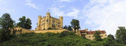 Hohenschwangau slott i Bayern - Tyskland Royaltyfria Bilder