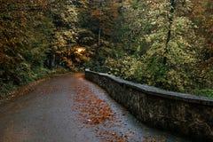 Hohenschwangau vicino a Fussen in Baviera, Germania La strada per w Fotografie Stock Libere da Diritti
