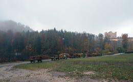 Hohenschwangau vicino a Fussen in Baviera, Germania Lago Alpsee Immagine Stock