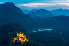 Hohenschwangaukasteel in Fussen Beieren, Duitsland royalty-vrije stock afbeelding