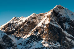 Hohenstollen mountain peak Royalty Free Stock Image