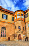 Hohentubingen城堡在蒂宾根,德国 免版税图库摄影