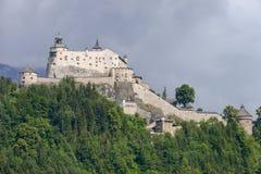 Hohenwerfen城堡和堡垒Werfen的奥地利的 免版税库存照片