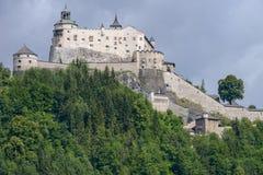 Hohenwerfen城堡和堡垒Werfen的奥地利的 免版税库存图片