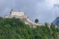 Hohenwerfen城堡和堡垒Werfen的奥地利的 免版税图库摄影
