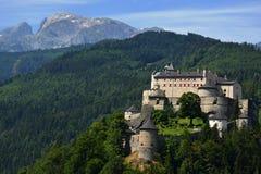 Hohenwerfen城堡 免版税库存照片