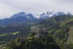 Hohenwerfen Castle. Above the city of Werfen in Austria Stock Photography