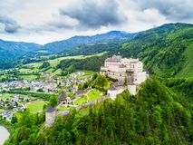 Free Hohenwerfen Castle Aerial View Stock Images - 114071334