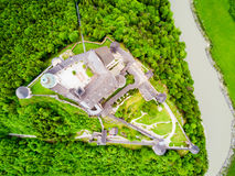 Free Hohenwerfen Castle Aerial View Stock Photography - 99147812