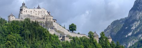 Hohenwerfen Castle And Fortress At Werfen On Austria Stock Photography