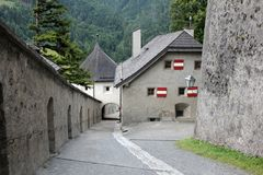 Hohenwerfen Fortress - interiour court Royalty Free Stock Images