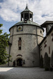 Hohenwerfen kasztel, Salzburgh Zdjęcia Stock