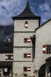 Hohenwerfen slott, Salzburgh arkivfoton
