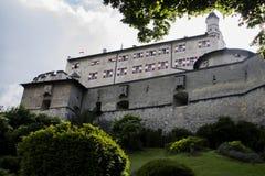 Hohenwerfen slott, Salzburgh Arkivfoto