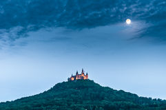 Hohenzollern城堡在巴登-符腾堡州,德国 库存图片