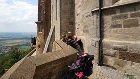 Hohenzollern城堡教会 免版税库存图片
