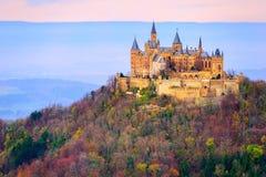Hohenzollern城堡,斯图加特,德国 免版税图库摄影