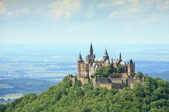 Hohenzollern城堡 免版税库存图片