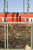 Hohenzollern桥梁科隆 免版税库存照片