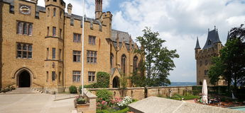 hohenzollern的城堡 免版税图库摄影