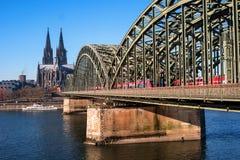 hohenzollern bridżowy katedralny cologne Obraz Stock