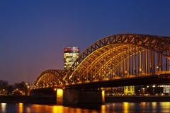 Hohenzollern Bridge in Cologne Stock Photo