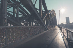 Hohenzollern bridge in Cologne, Germany. Royalty Free Stock Photo