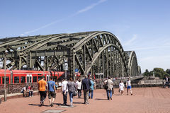 Hohenzollern Bridge in Cologne, Germany royalty free stock photography