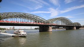 Hohenzollern Bridge in Cologne, Germany stock video