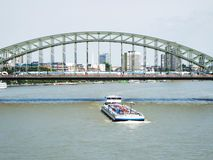 Hohenzollern Bridge in Cologne. Cologne, Germany 2014 Royalty Free Stock Photos