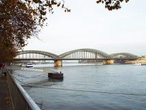 Hohenzollern bridge. Cologne, Germany 2014 Royalty Free Stock Photo