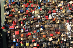 Hohenzollern bridge padlocks Stock Images