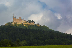 Hohenzollern Castle. Is the ancestral seat of the imperial House of Hohenzollern. The third of three castles on the site, it is located atop Berg Hohenzollern Stock Photography