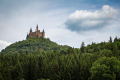 Hohenzollern Castle. In Germany on a wooded mountain Stock Images