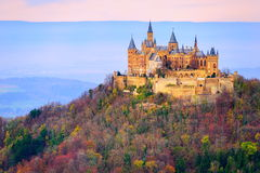 Hohenzollern castle, Stuttgart, Germany. German Kaiser's Hohenzollern castle, situated in Black Forest by Stuttgart, Germany royalty free stock photography