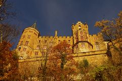 Hohenzollern castle in Swabian during autumn Royalty Free Stock Photo